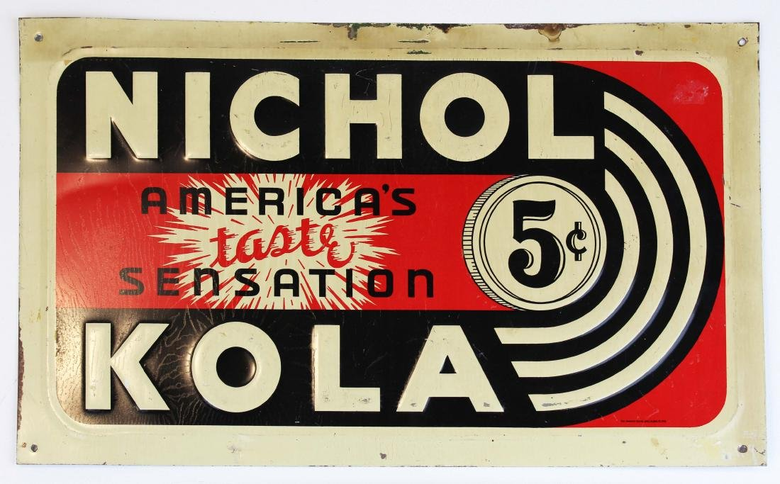 two Nichol Cola advertising signs - 3