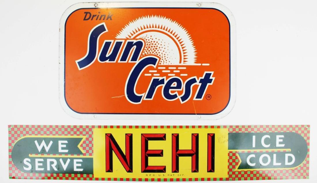 Sun Crest, Nehi advertising signs