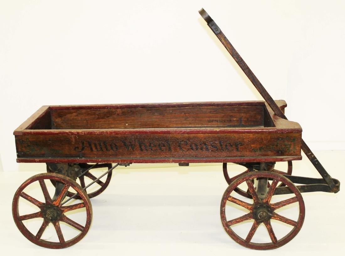 early 20th c Auto Wheel Coaster wagon