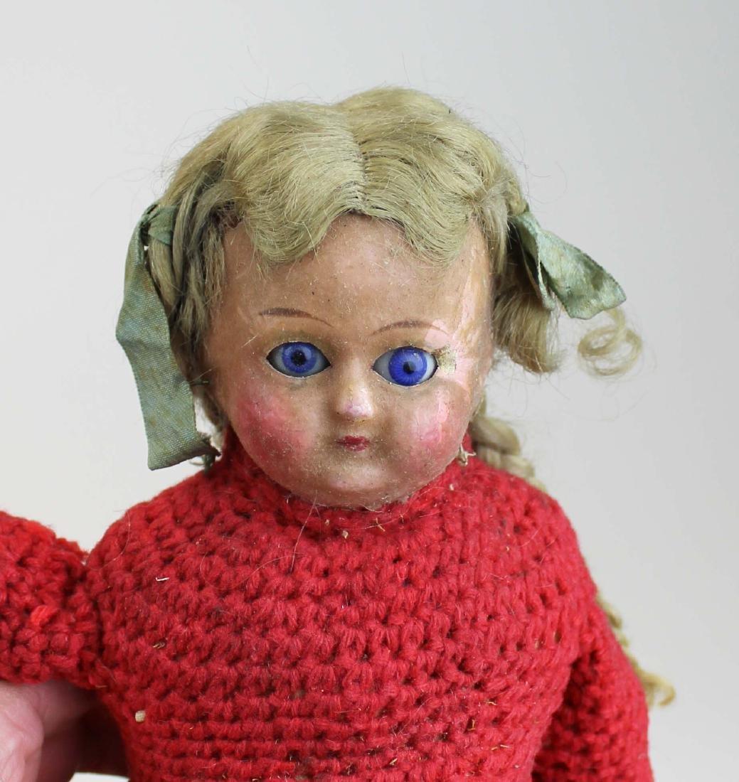 mid 19th c wax & china head & two dolls - 2