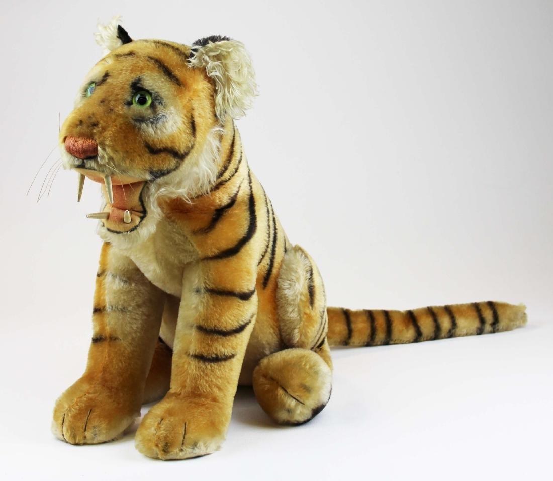 mid 20th c Steiff Bengal tiger cub