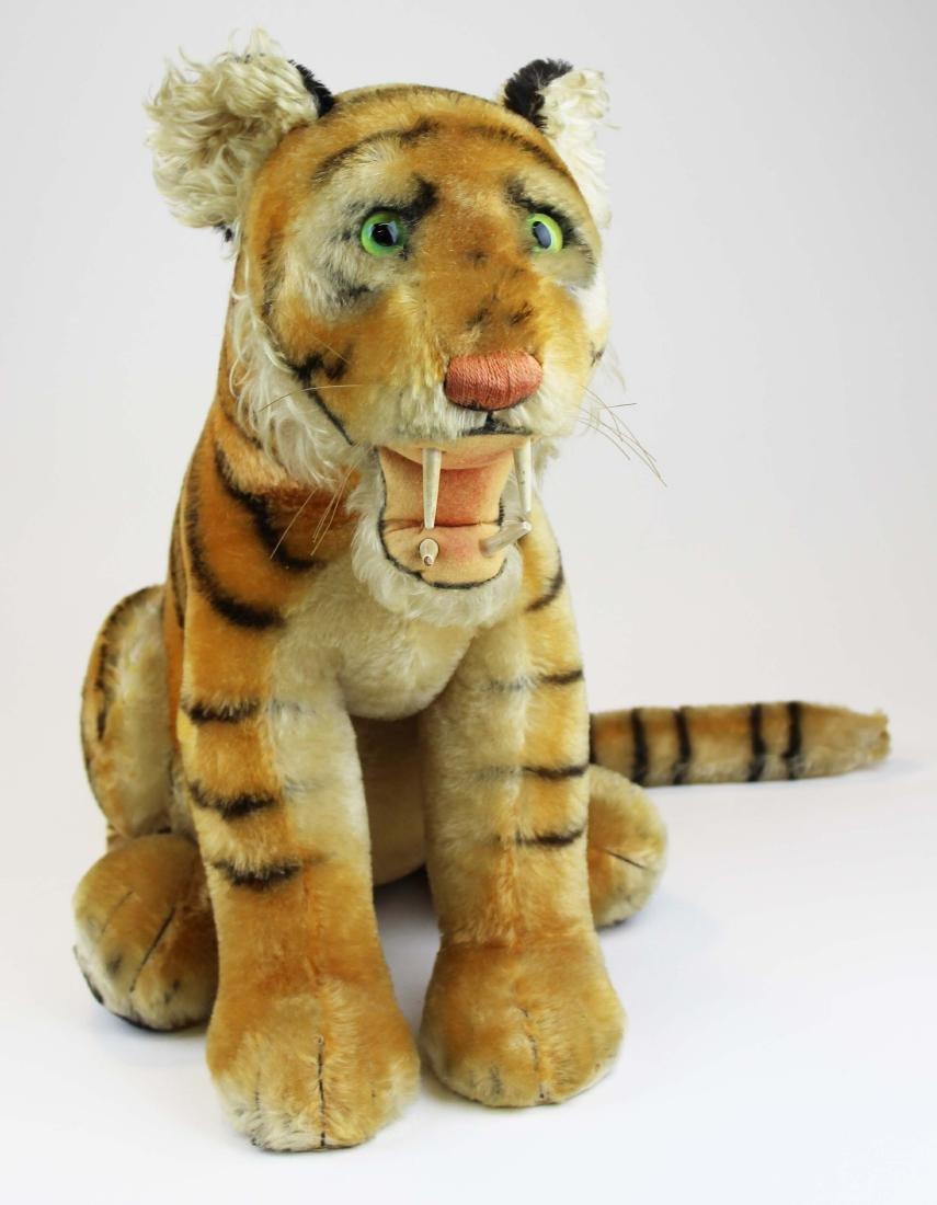 mid 20th c Steiff Bengal tiger cub - 2