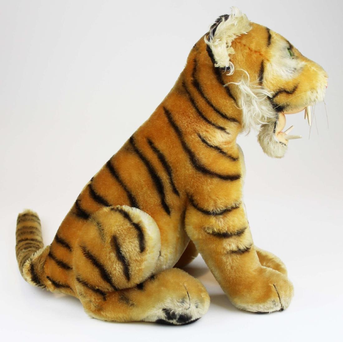 mid 20th c Steiff Bengal tiger cub - 3