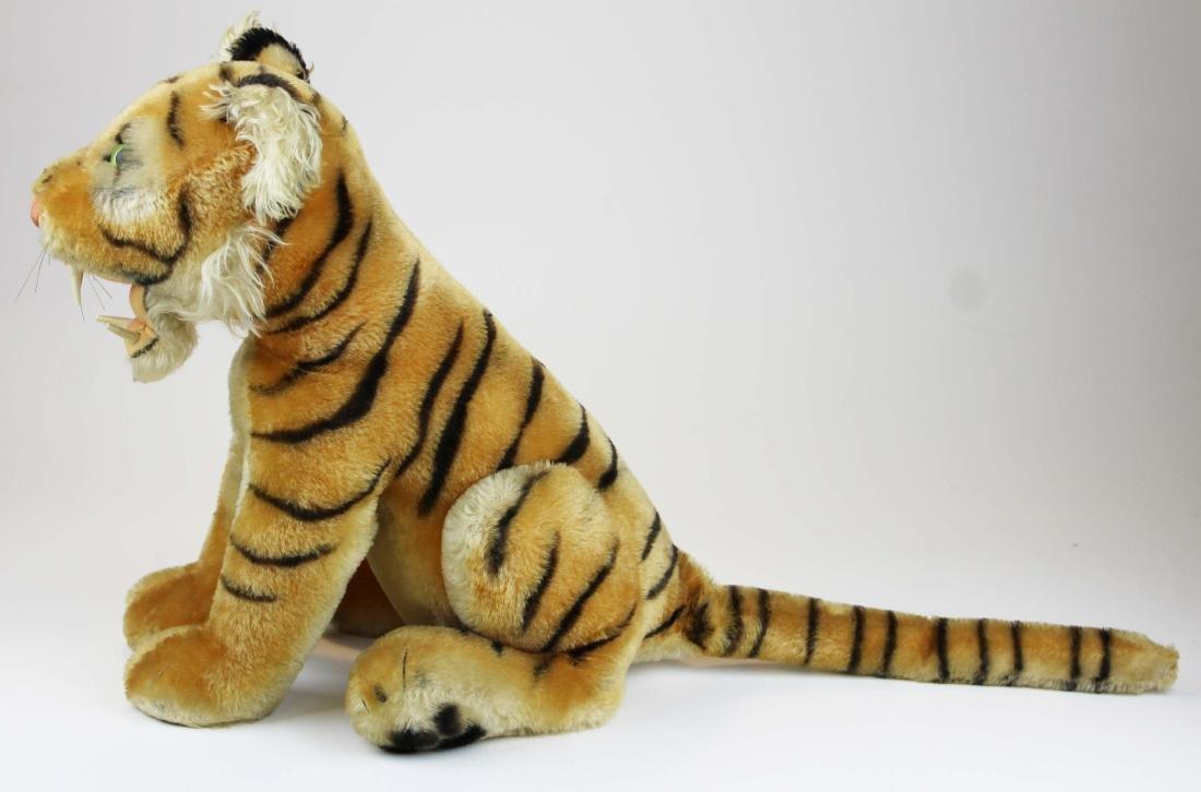 mid 20th c Steiff Bengal tiger cub - 5