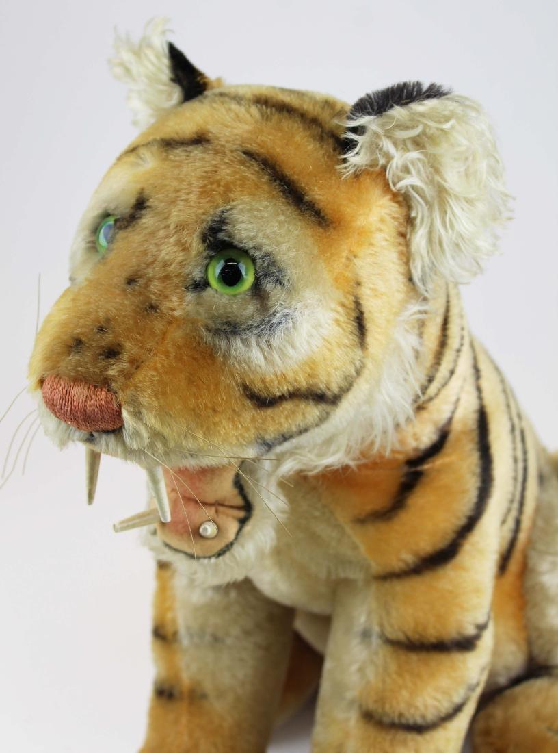 mid 20th c Steiff Bengal tiger cub - 6