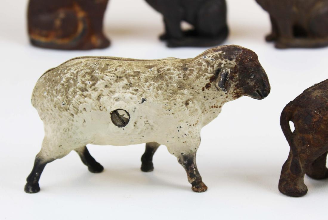 eight animal & figural cast iron still banks - 2