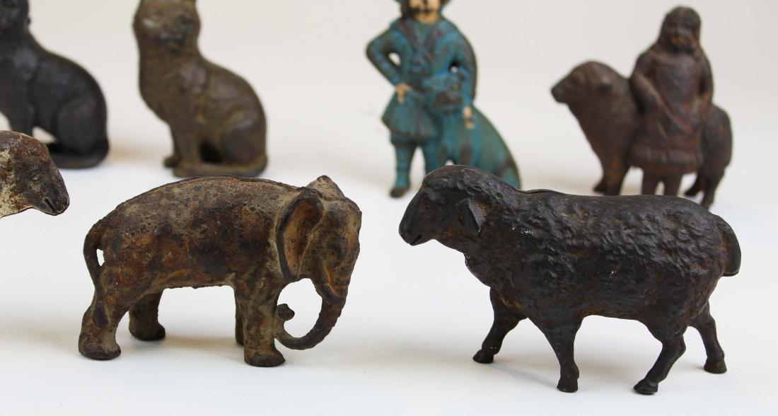eight animal & figural cast iron still banks - 3