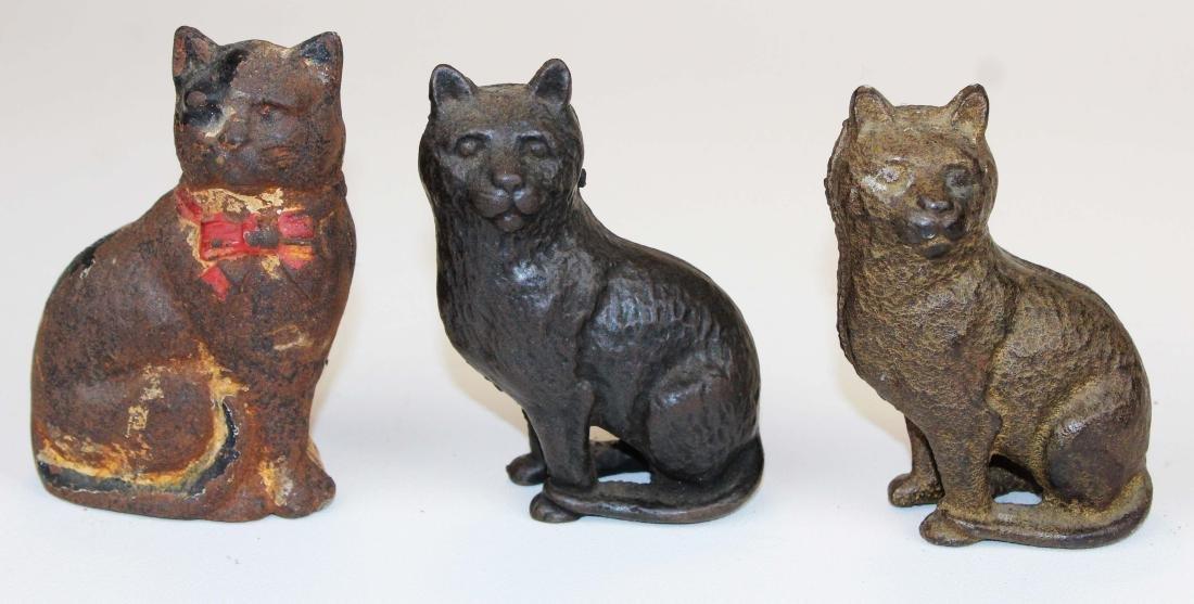 eight animal & figural cast iron still banks - 4