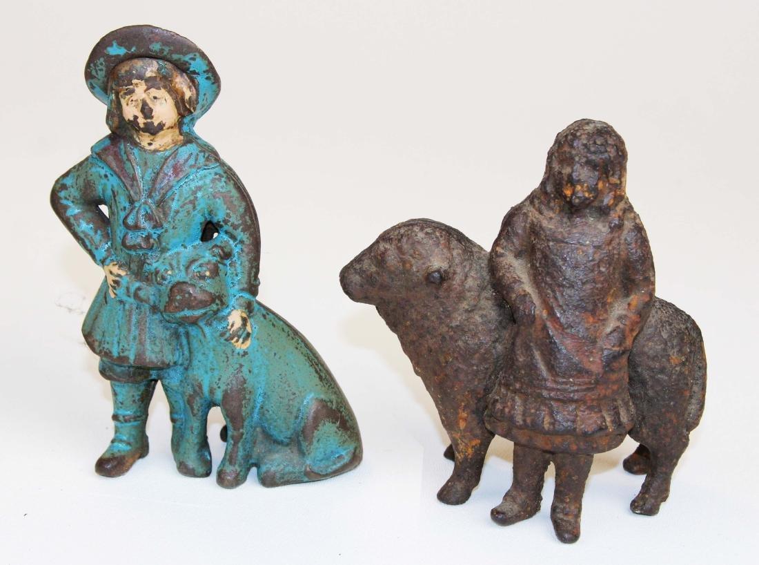 eight animal & figural cast iron still banks - 5