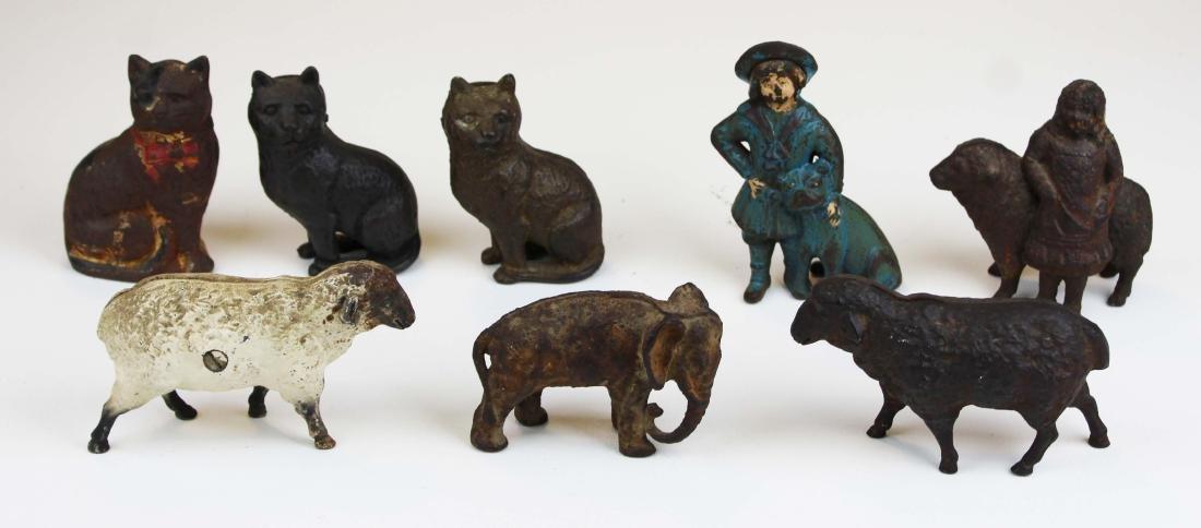 eight animal & figural cast iron still banks - 6