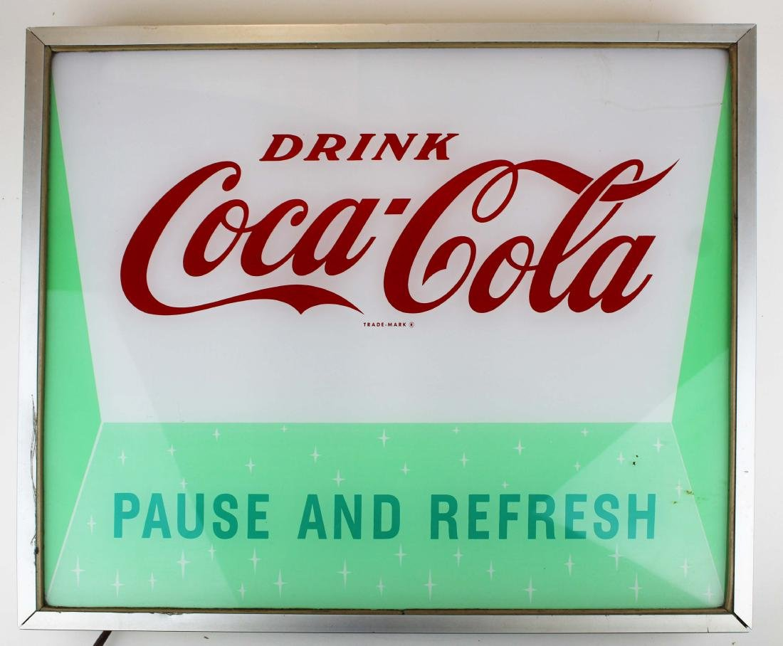 Coca Cola lighted store sign