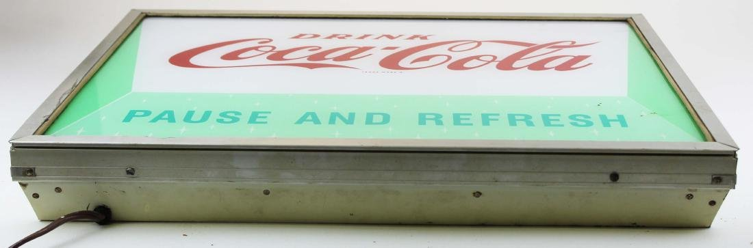 Coca Cola lighted store sign - 2