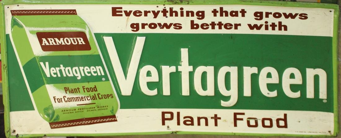 Vertagreen Plant food advertising sign