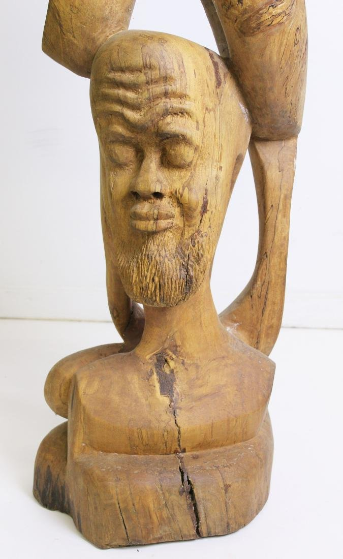 West African Modern carved sculpture - 2
