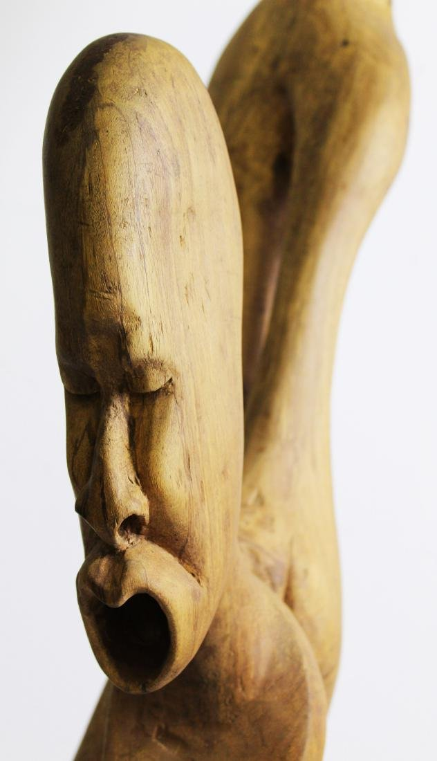 West African Modern carved sculpture - 4