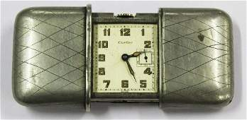 Cartier vintage folding travel clock