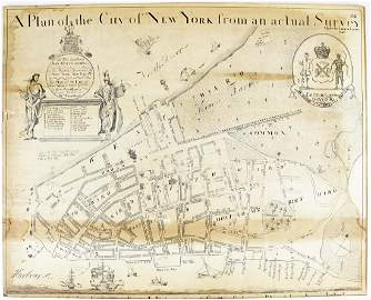 after James Lyne Plan of the City of New York