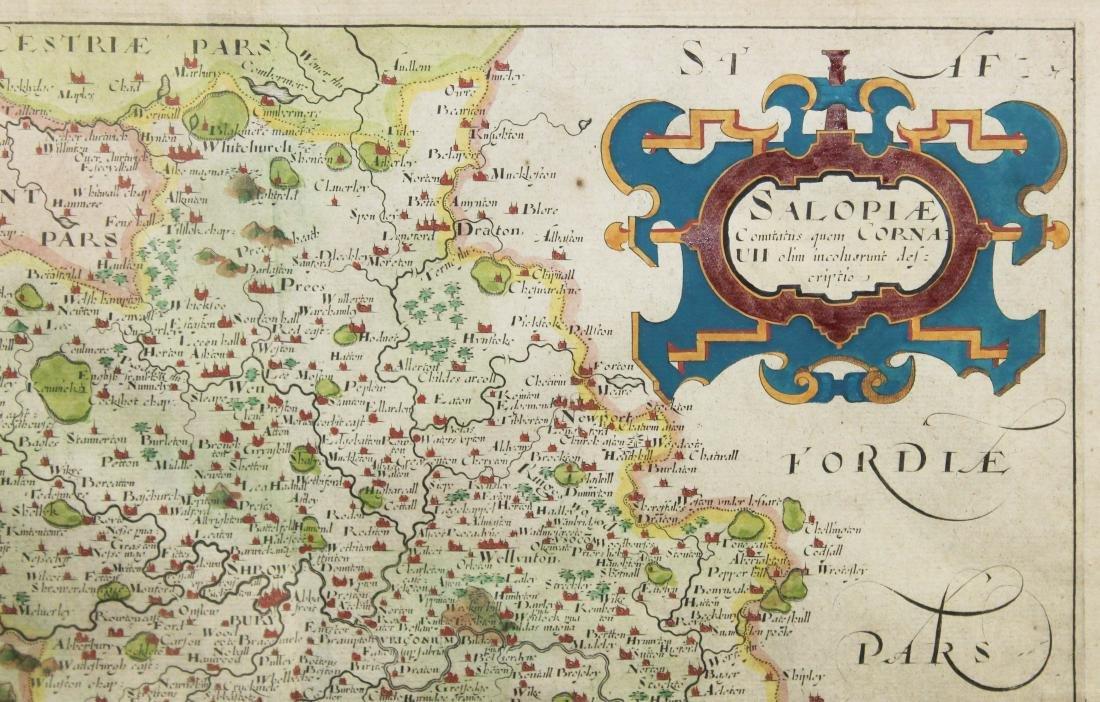Christopher Saxton 1607 Map of Shropshire - 3