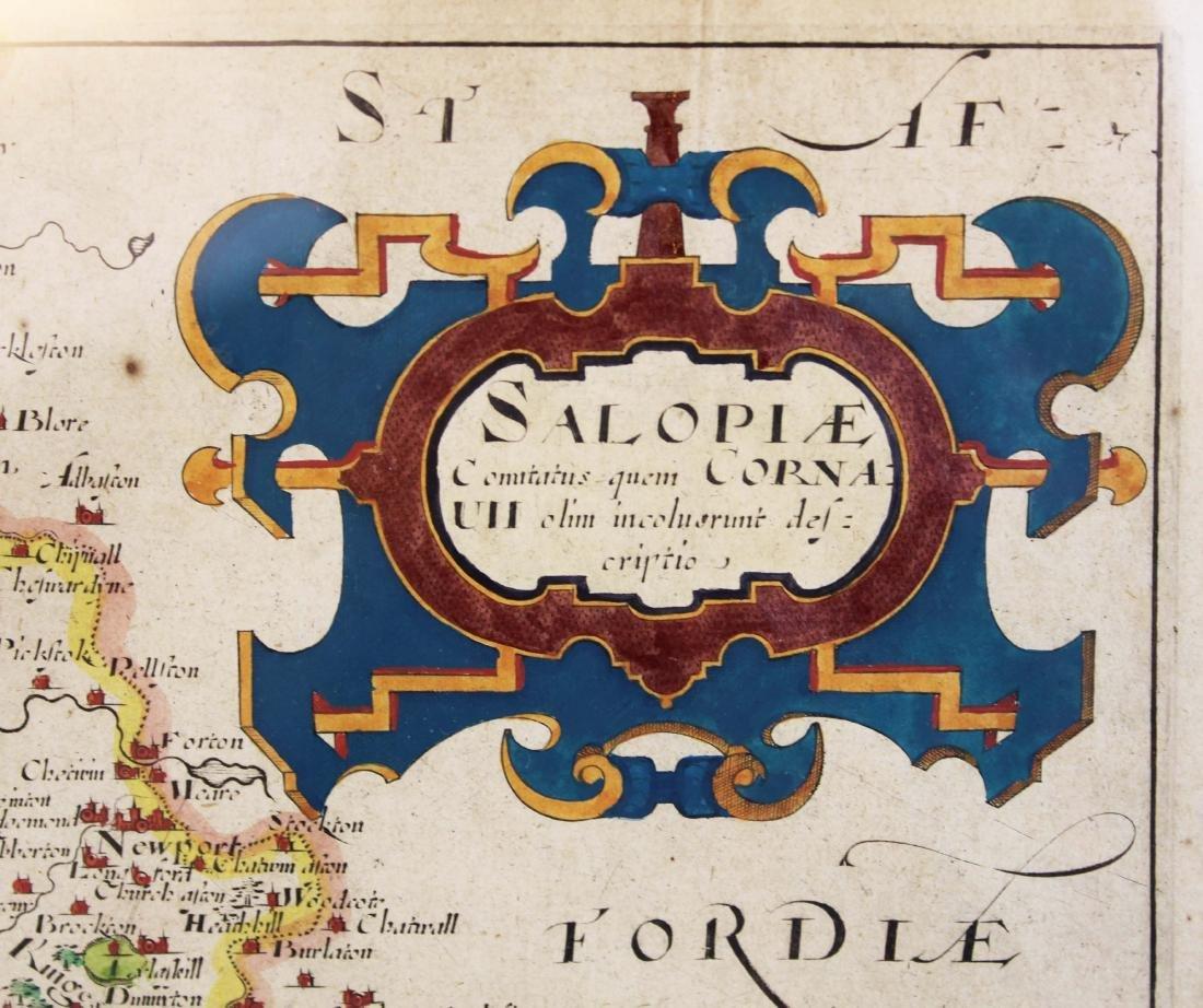 Christopher Saxton 1607 Map of Shropshire - 6