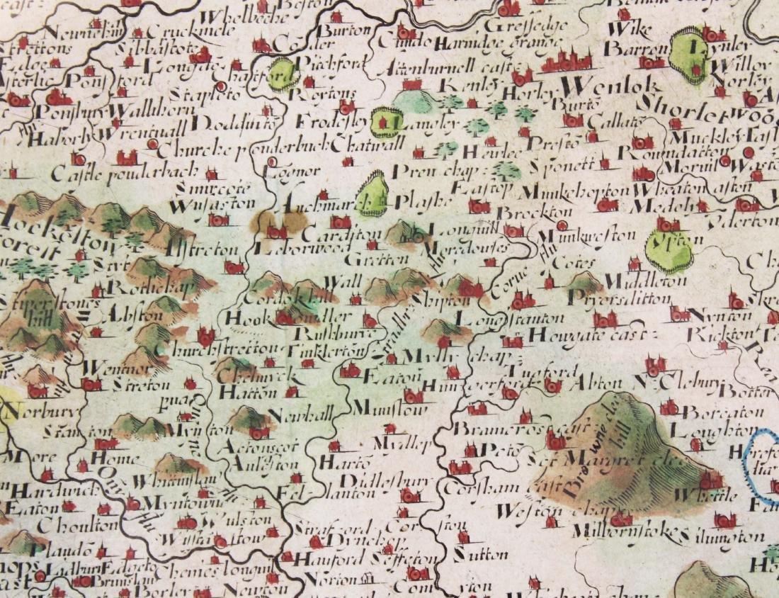 Christopher Saxton 1607 Map of Shropshire - 7