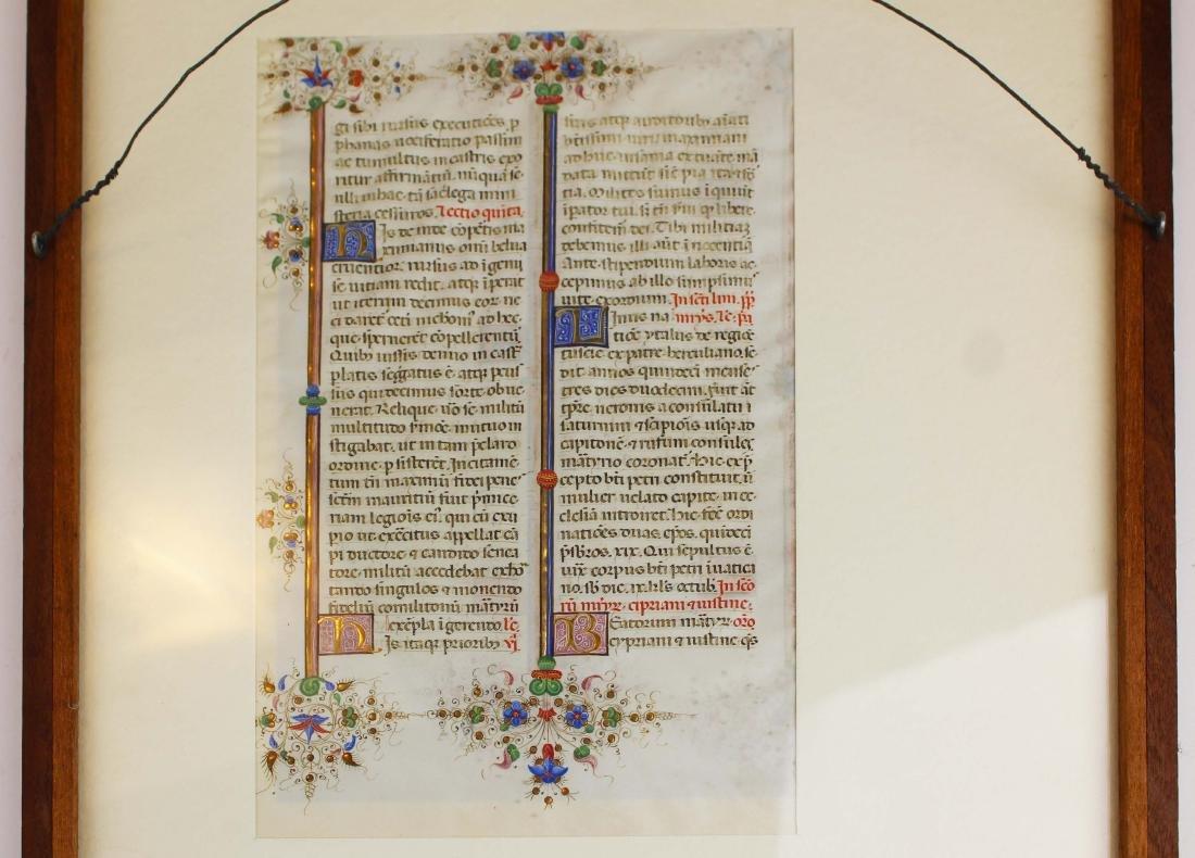 ca 1470 finely illuminated missal leaf on vellum - 10