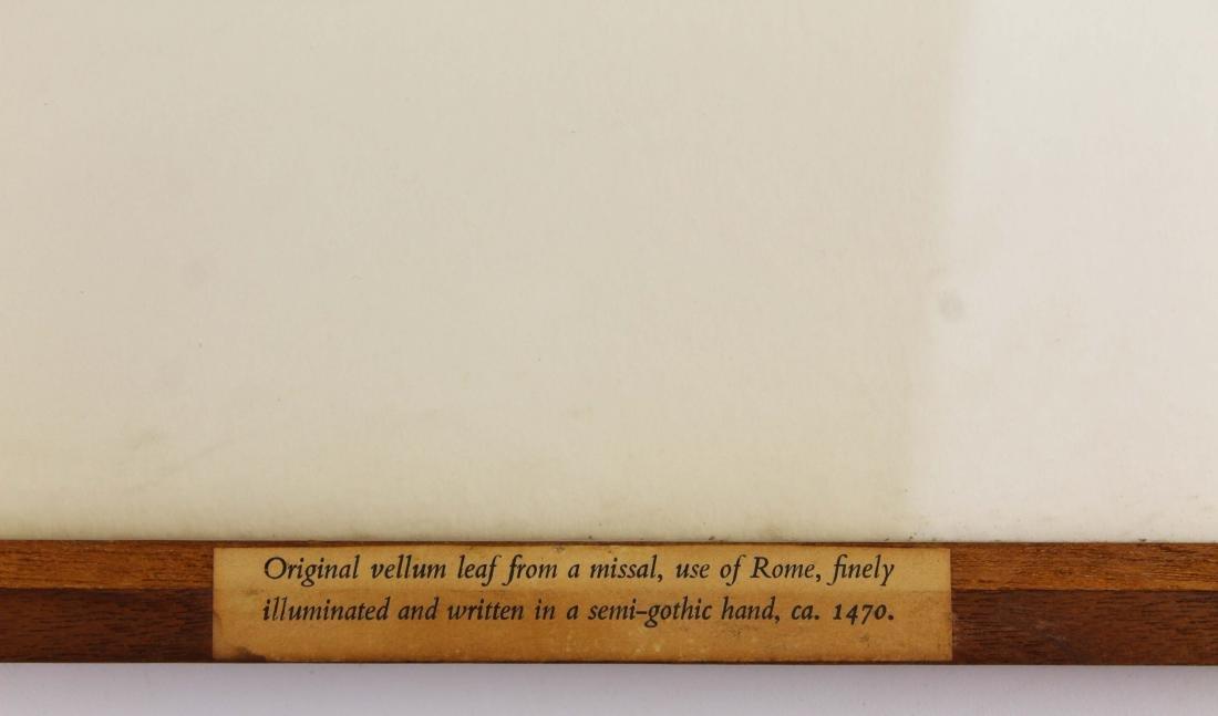 ca 1470 finely illuminated missal leaf on vellum - 11