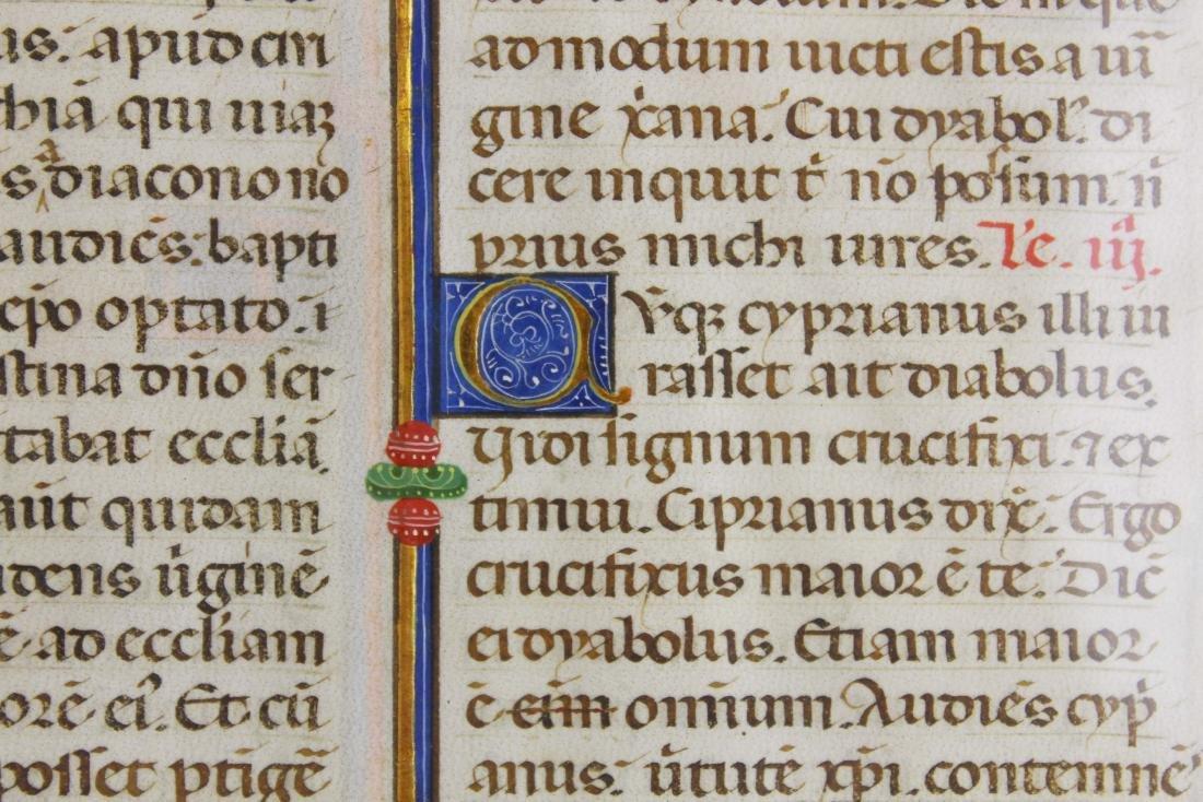 ca 1470 finely illuminated missal leaf on vellum - 6