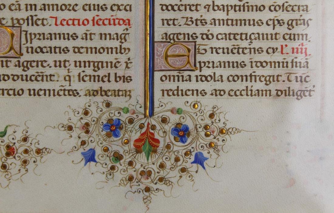ca 1470 finely illuminated missal leaf on vellum - 7