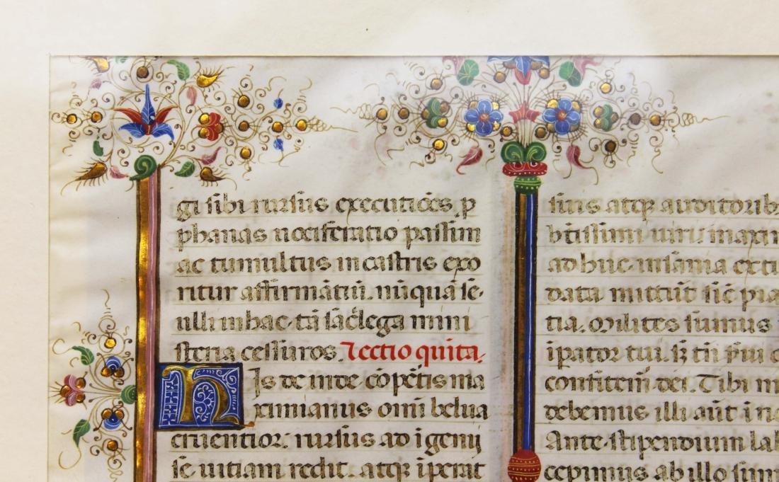 ca 1470 finely illuminated missal leaf on vellum - 8