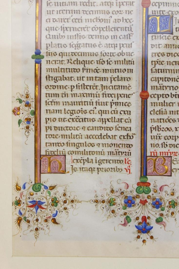 ca 1470 finely illuminated missal leaf on vellum - 9