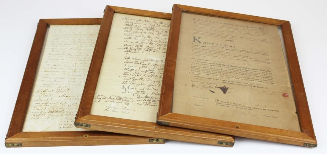 three ca 1795 South Hero, VT land deeds
