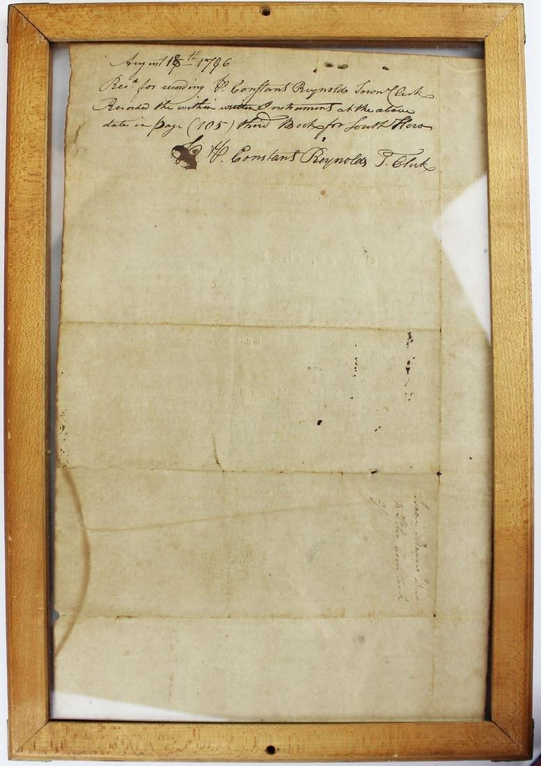 three ca 1795 South Hero, VT land deeds - 3