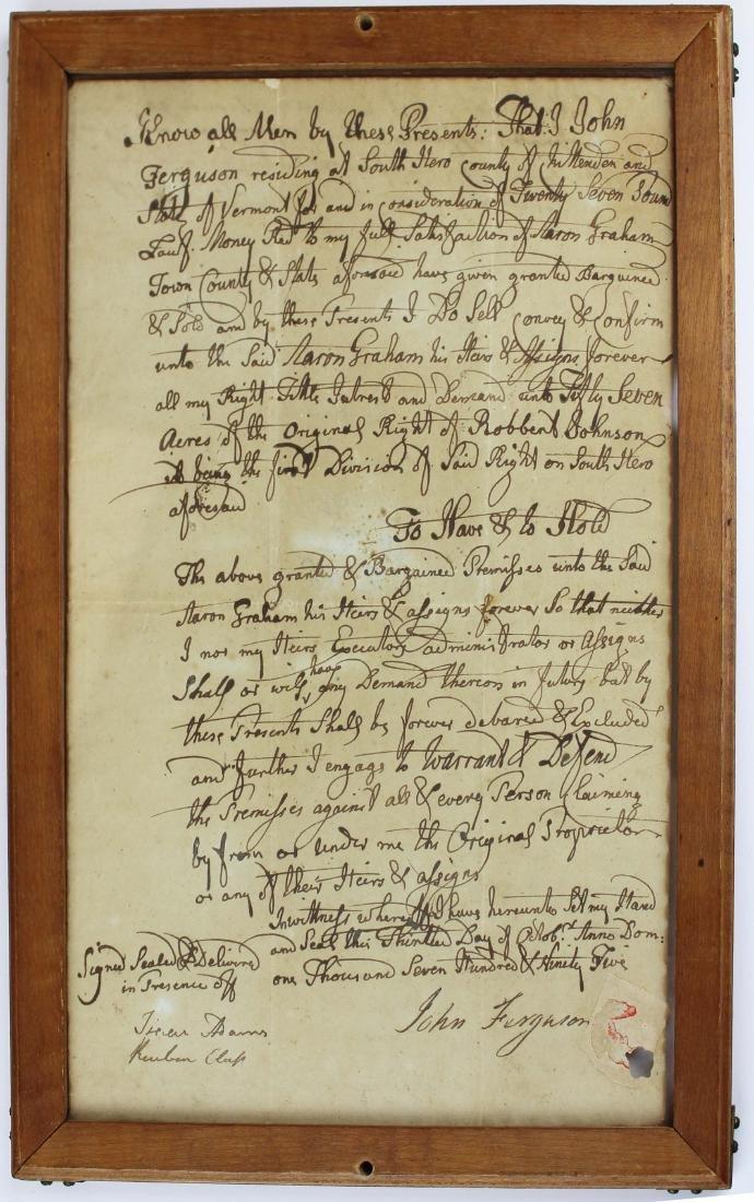 three ca 1795 South Hero, VT land deeds - 4