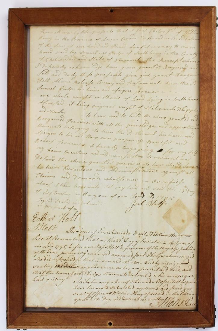 three ca 1795 South Hero, VT land deeds - 6