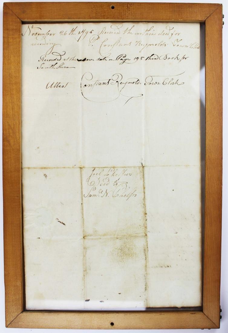 three ca 1795 South Hero, VT land deeds - 7