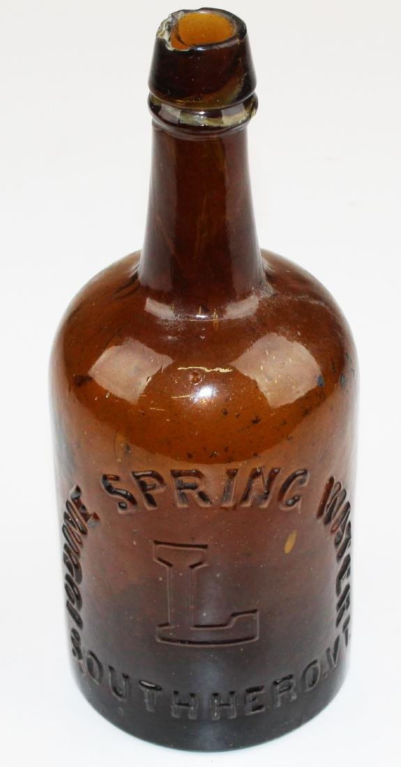 Iodine Springs, VT spring water bottle