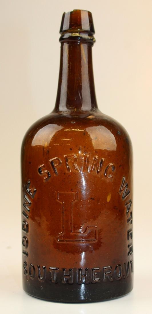 Iodine Springs, VT spring water bottle - 2