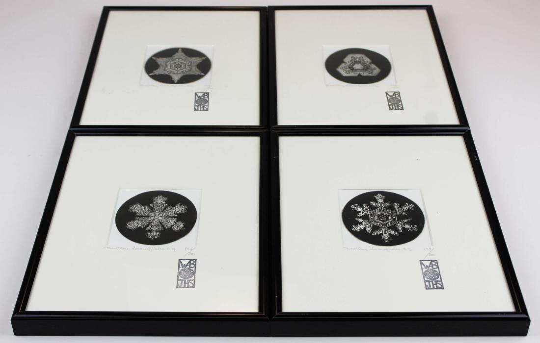 four Snowflake Bentley photographs