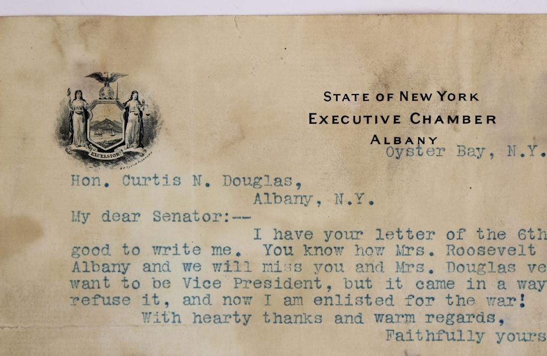 1900 Theodore Roosevelt typed letter signed - 2
