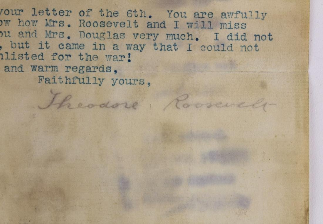 1900 Theodore Roosevelt typed letter signed - 3