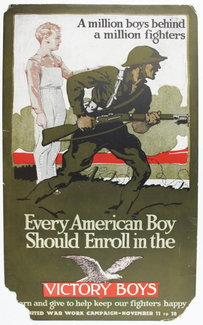 WWI Victory Boys enrollment poster