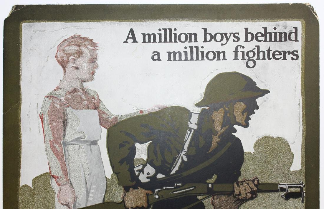 WWI Victory Boys enrollment poster - 2