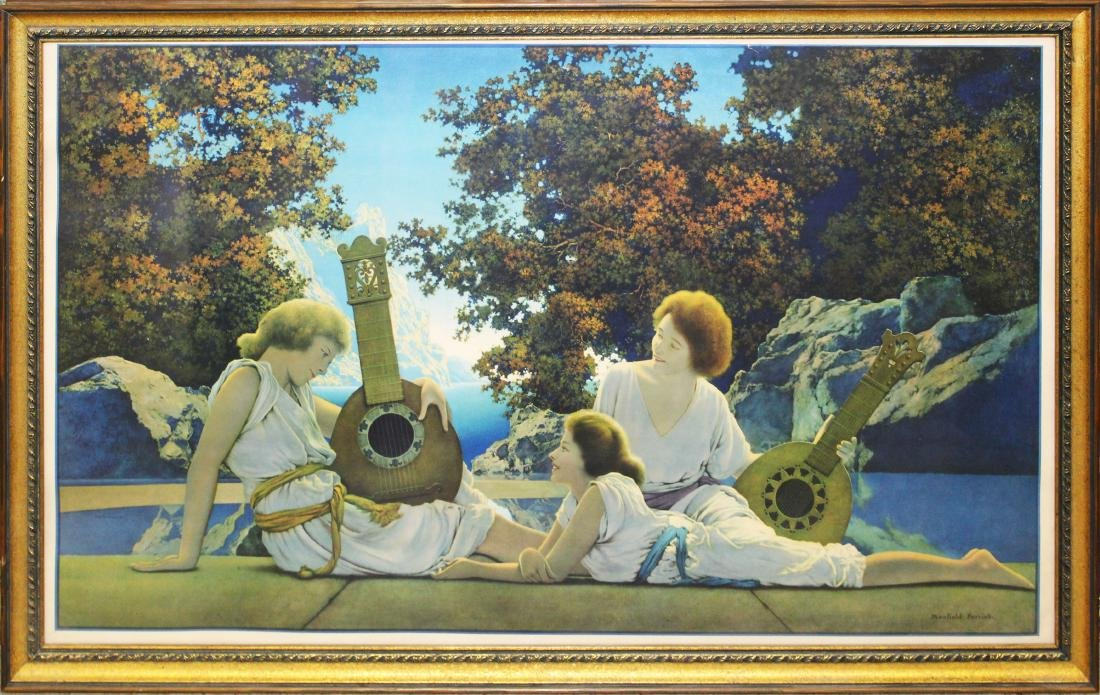 Maxfield Parrish large print The Lute Players