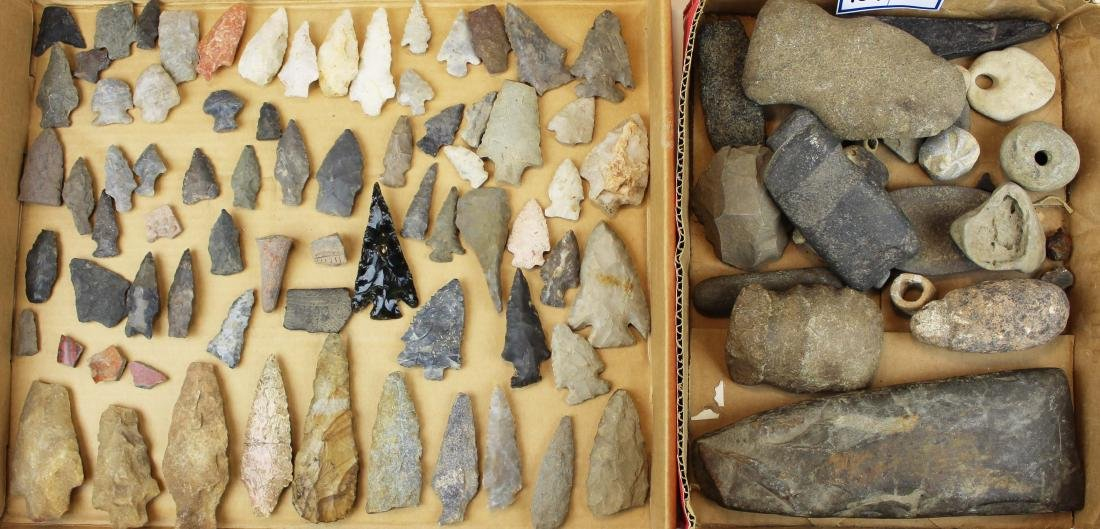 Prehistoric Native American lithic artifacts