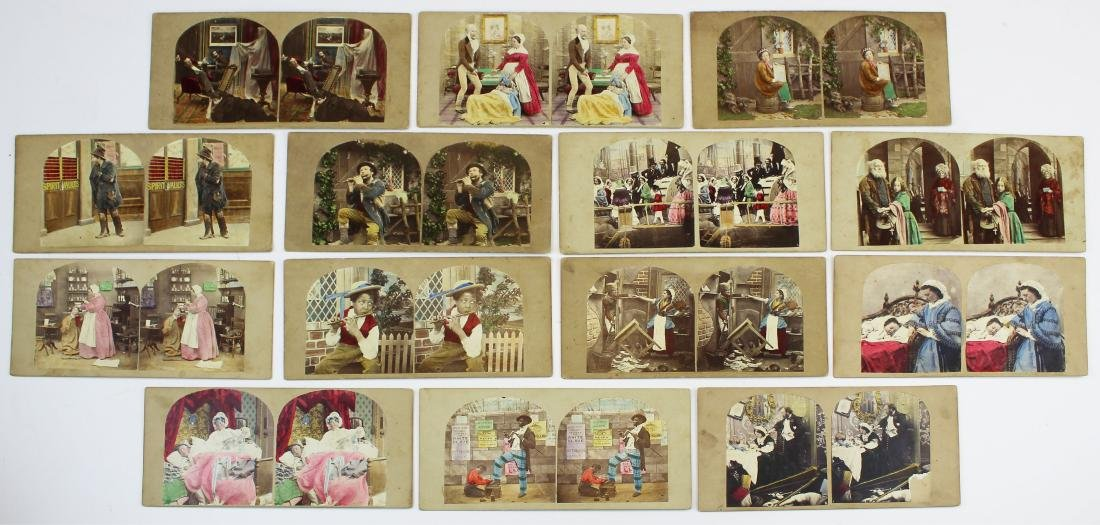 ca 1900 hand-colored stereo view photos