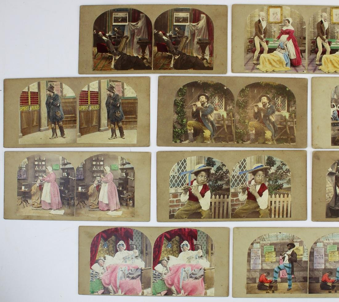 ca 1900 hand-colored stereo view photos - 2