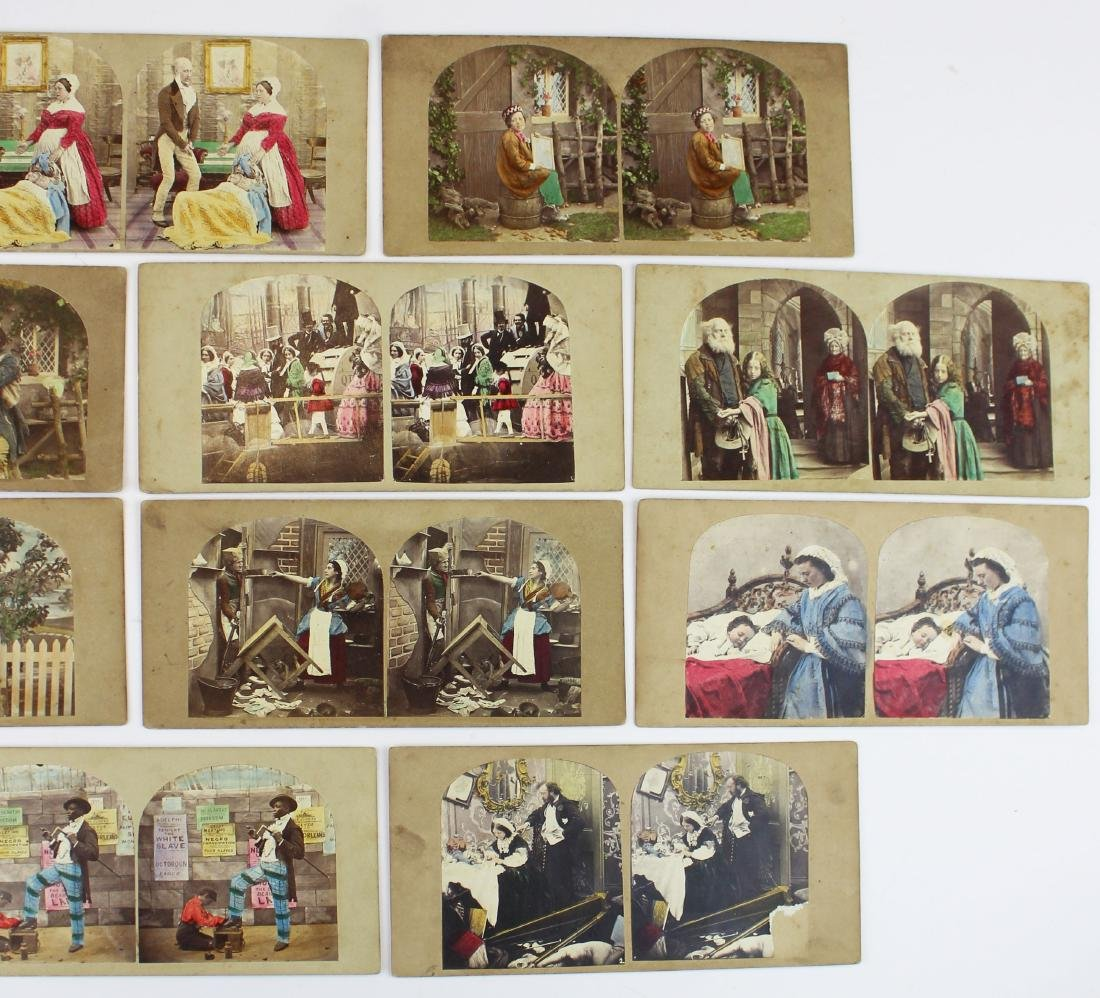 ca 1900 hand-colored stereo view photos - 3