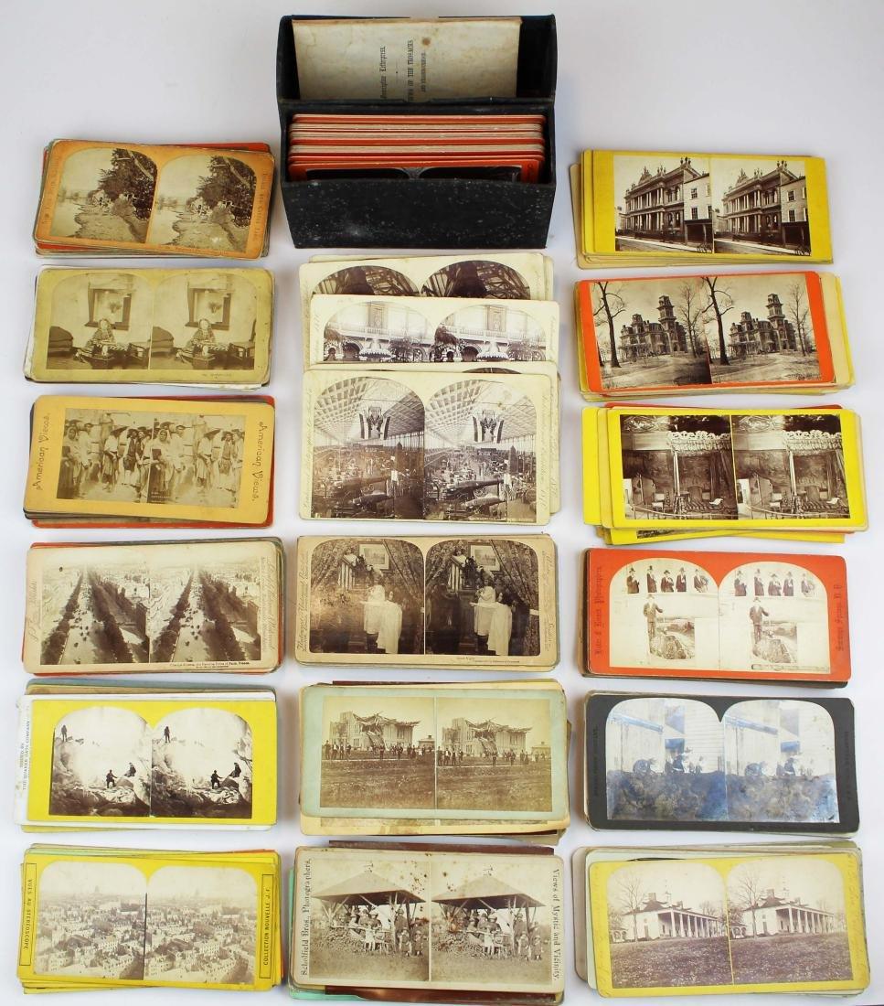 ca 1900 stereo view photos - 2