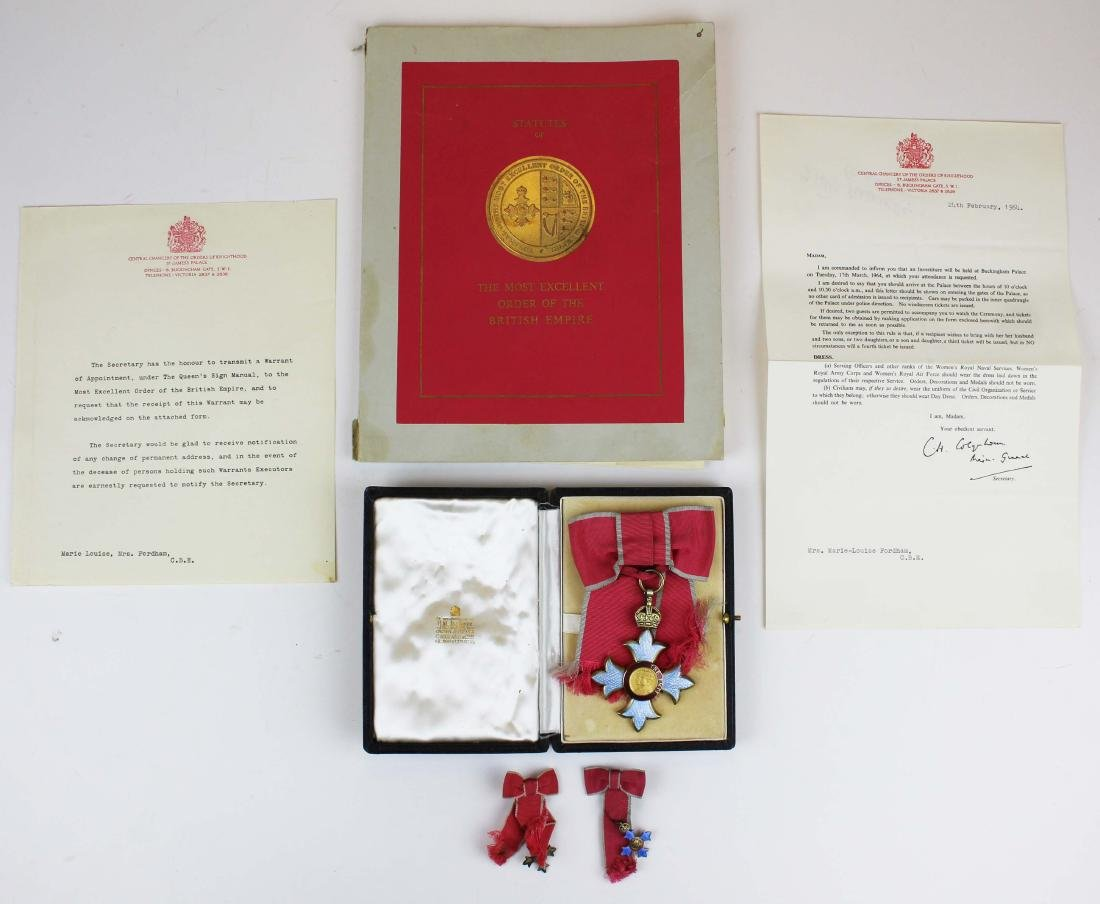 1964 Mary Louise Fordham British medals