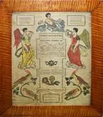 1824 Berks County PA hand colored fraktur